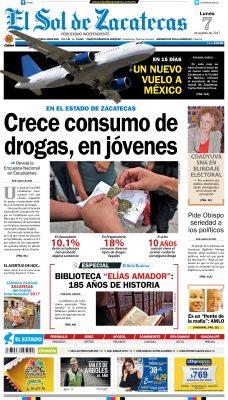 El Sol de Zacatecas 8 de agosto