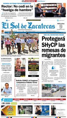 El Sol de Zacatecas 9 de agosto