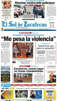 El Sol de Zacatecas 11 de agosto
