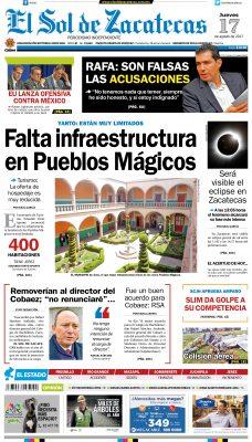El Sol de Zacatecas 17 de agosto