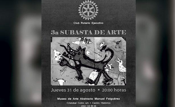 Subastarán obras de arte en Zacatecas