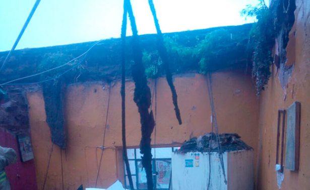 Se derrumba vivienda en el centro de Zacatecas