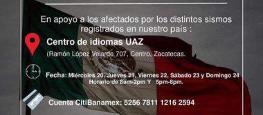 El 23 de septiembre entregará UAZ recolección de víveres