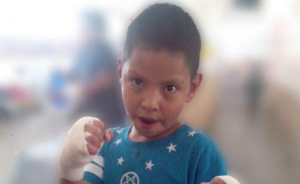 Luis Carlos, el pequeño que sueña con ser boxeador