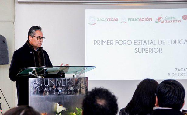 Realizan en Zacatecas el I Foro de Educación Superior