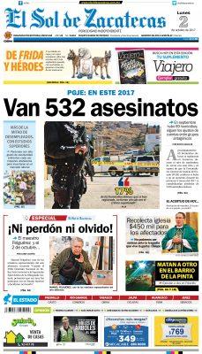 El Sol de Zacatecas 2 de octubre 2017