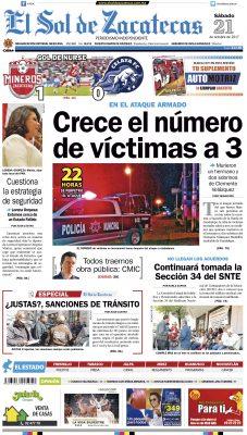 El Sol de Zacatecas 21 de octubre 2017