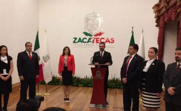 Realiza Gobernador de Zacatecas cambios en su gabinete