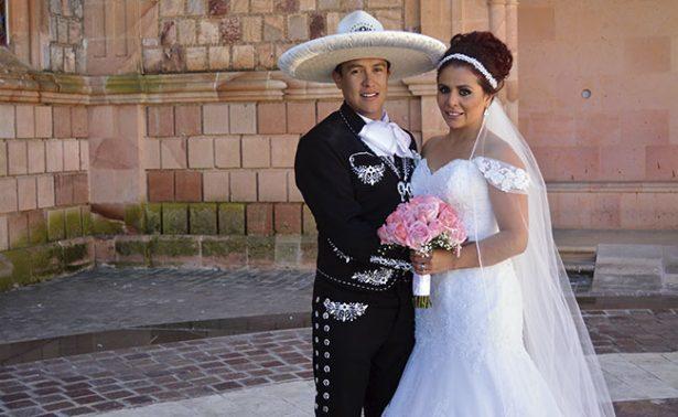 Berenice y Jesús; los nuevos esposos