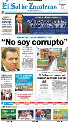 El Sol de Zacatecas 5 de noviembre 2017