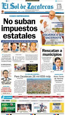 El Sol de Zacatecas 13 de noviembre 2017
