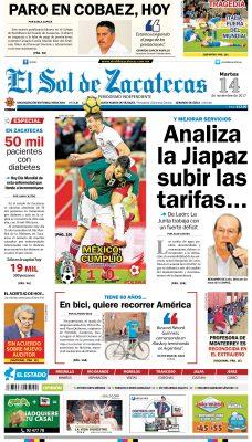 El Sol de Zacatecas 14 de noviembre 2015