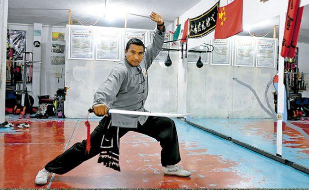 Pedro García, ocho veces campeón nacional de kung fu