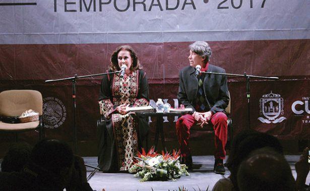 Con poesía, Laura Zapata y Xavier Marc enamoraron a Zacatecas
