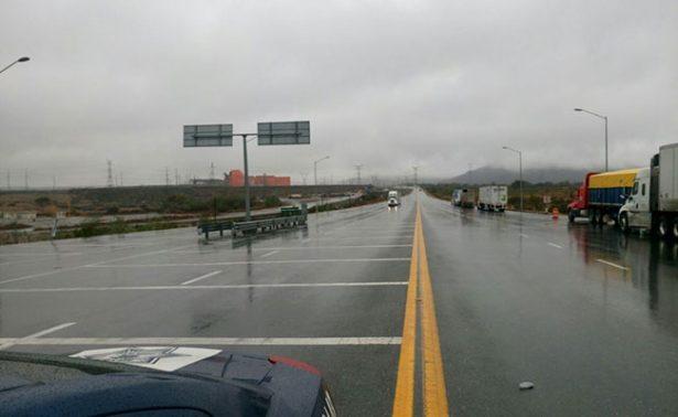 Reportan aguanieve en la carretera Saltillo-Zacatecas