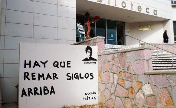 Acción Poética pinta bardas de Zacatecas