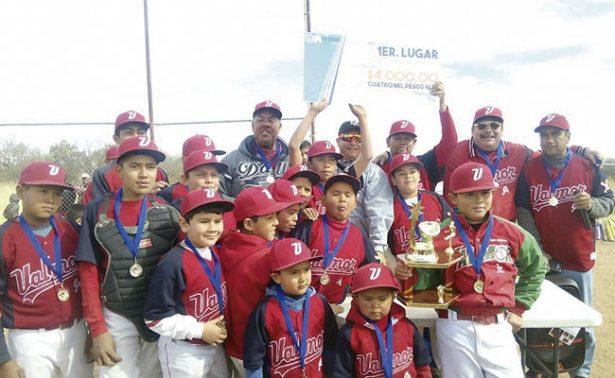Valmor Jr; campeones de la Liga de Beisbol Infantil