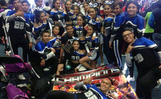 Porrristas fresnillenses triunfan en Aguascalientes
