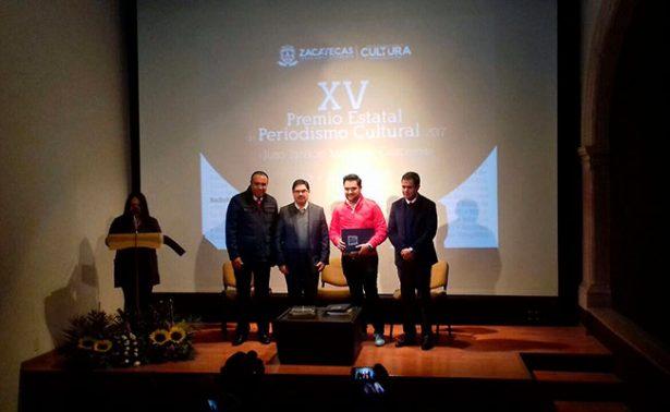 Entregaron el Premio Estatal de Periodismo Cultural