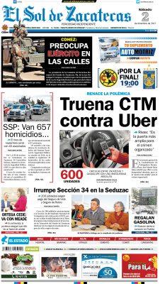 El Sol de Zacatecas 2 de diciembre 2017