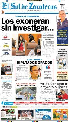 El Sol de Zacatecas 5 de diciembre 2017