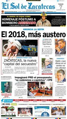 El Sol de Zacatecas 7 de diciembre 2015