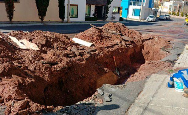 Ruptura de red afectará suministro de agua potable en Guadalupe