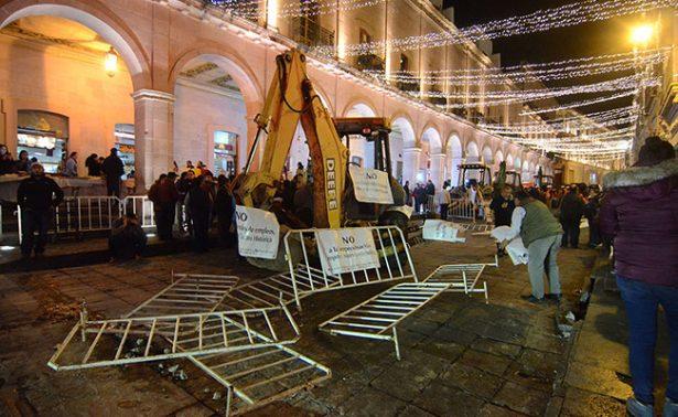 Impiden inicio de obras en el centro histórico de Zacatecas