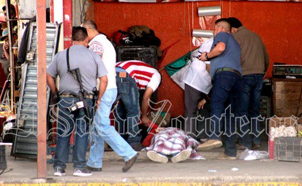 Asesinan a un hombre en Abastos de Fresnillo