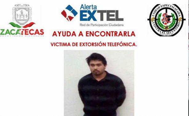 Emiten en Zacatecas alerta por posible víctima de extorsión