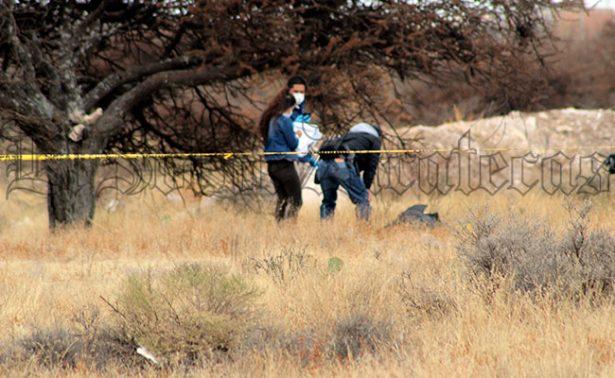 En Fresnillo hallan cuerpo de mujer ejecutada