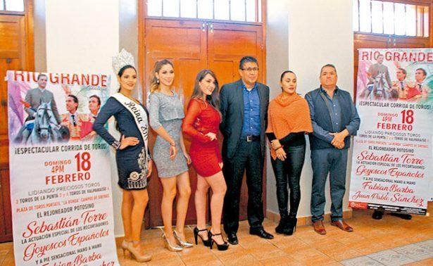 Presentan cartel taurino de Feria de Carnaval de Río Grande
