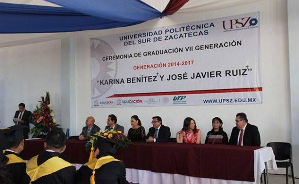 Egresaron 48 nuevos profesionistas de la UPSZ