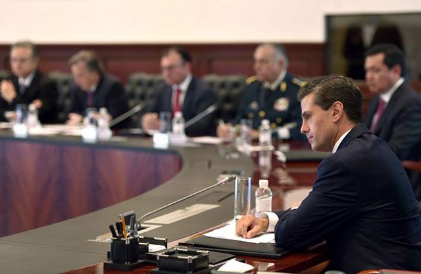 Peña Nieto refuerza estrategias de desarrollo y seguridad con su gabinete