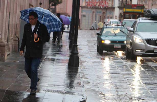 Lluvias de diferente intensidad se registrarán en la mayor parte del país