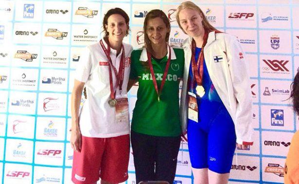 Cinco oros en natación en Letonia