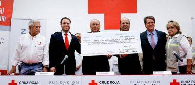 Fundación Carlos Slim y TELMEX entregan donativo de 5mdp a la Cruz Roja Mexicana