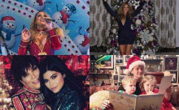 ¡Las celebridades nos presumen sus árboles de Navidad!