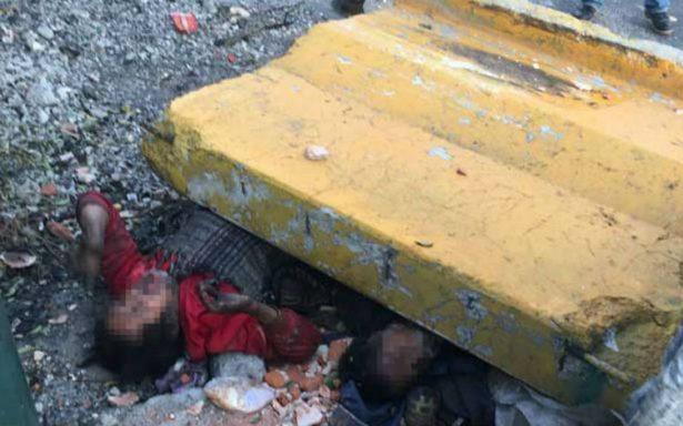 Cae muro de concreto sobre dos hombres en situación de calle; hay un muerto