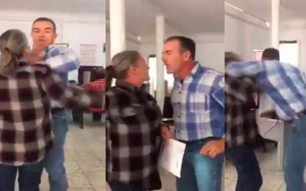 [Video] Captan a juez de Chihuahua agrediendo a una mujer