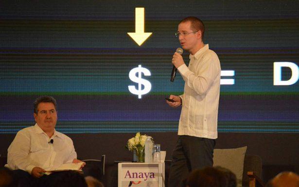 Anaya insiste ante banqueros que PGR es un instrumento de presión política