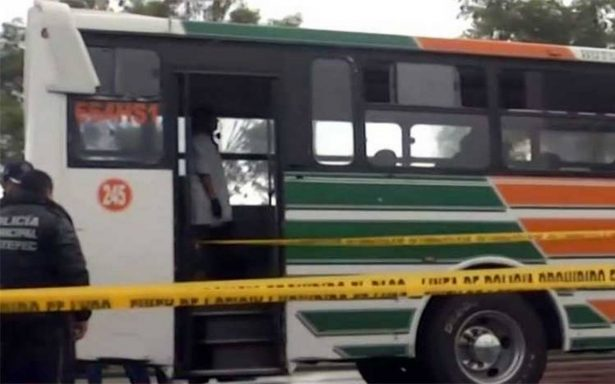 Asesinan a pasajero durante asalto a un autobús sobre carretera Texcoco-Lechería