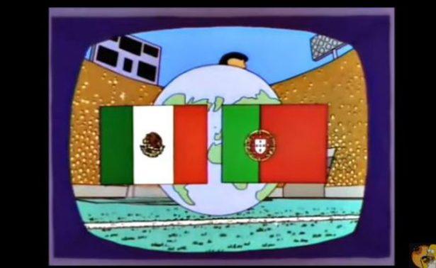 Los Simpsons predicen un aburrido México-Portugal