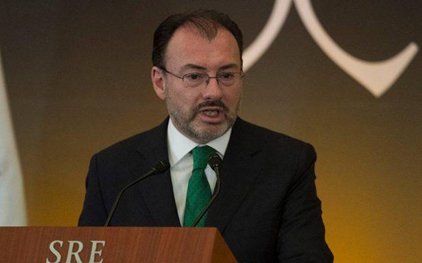 Estamos razonablemente cerca de alcanzar acuerdo en TLCAN: Videgaray
