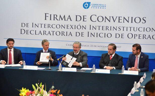 El Edomex y el Poder Judicial firma convenio de Interconexión Interinstitucional