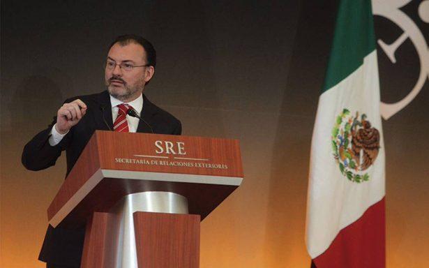 """Videgaray reitera que """"no hay fecha fatal"""" en negociaciones del TLCAN"""