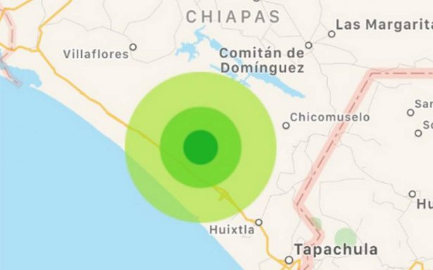 Ciudad Hidalgo, Chiapas registra sismo de magnitud 4.9