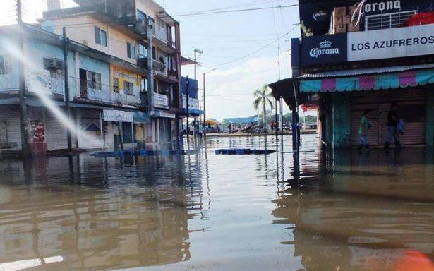 Bajo el agua el sur de Veracruz