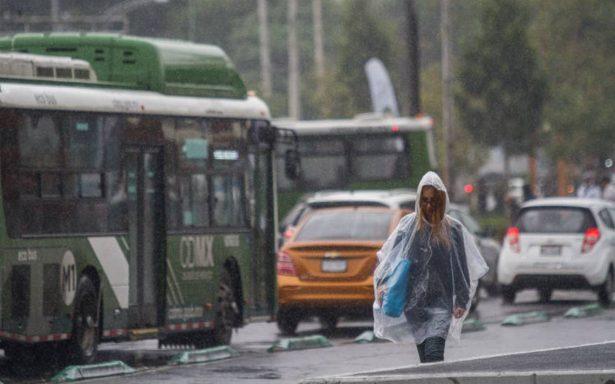Llueve en nueve delegaciones de la CDMX