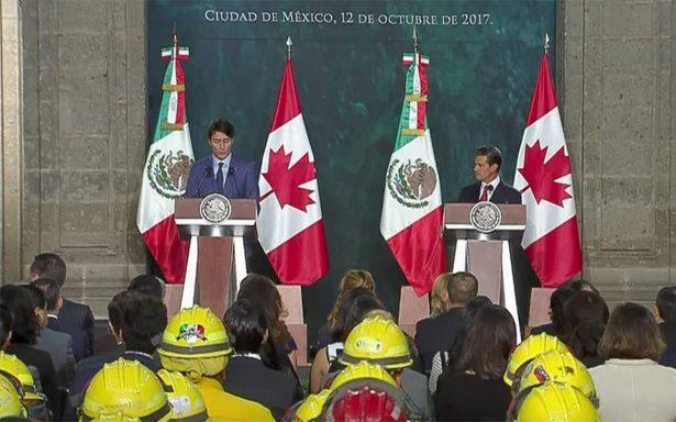 Canadá no abandonará negociación del TLCAN: Justin Trudeau